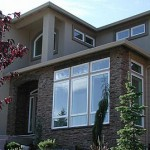 Residential home with vinyl windows