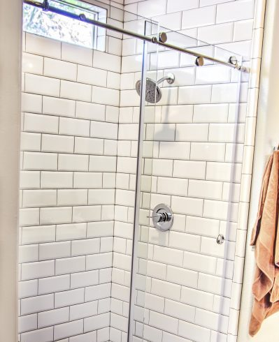 Barn Doors Shower Glass