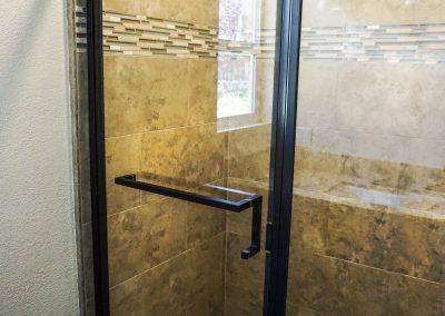 shower door bronze framed