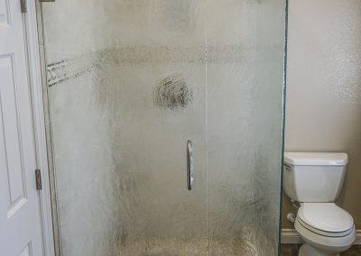 Frameless Shower Glass with Fogged Glass